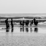 Familien am Strand