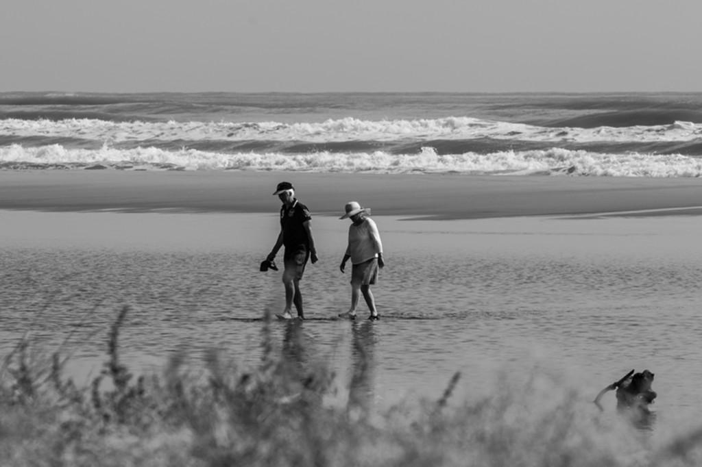 Rentner am Strand